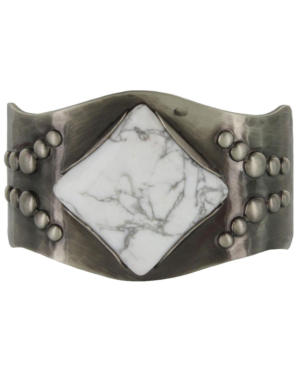 Montana Silversmiths Women's White Dune Trails Cuff Bracelet, Silver, hi-res