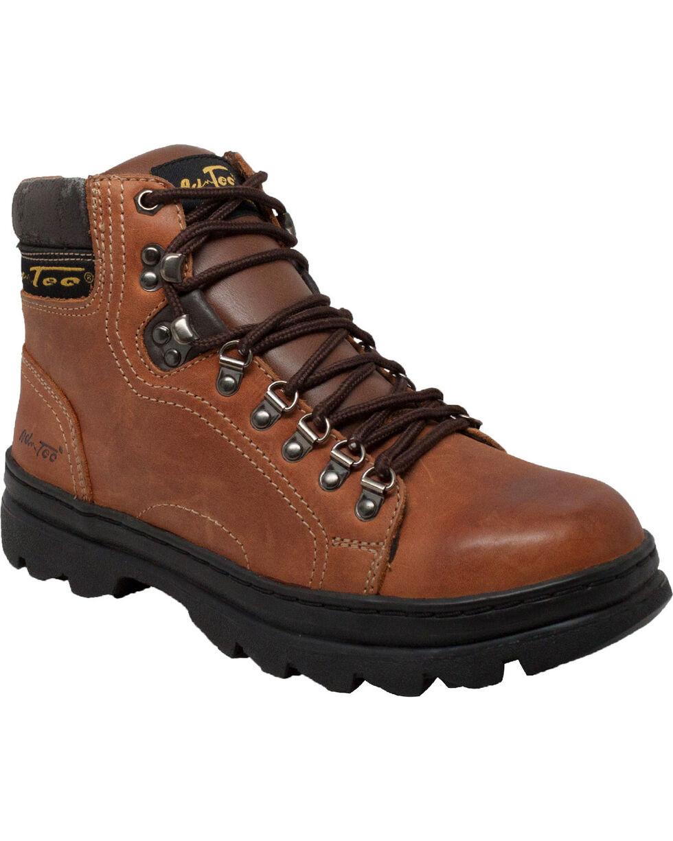 """Ad Tec Men's Crazy Horse Leather 6"""" Work Hiker Boots, Brown, hi-res"""