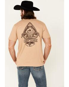 Cody James Men's Dead Mans Ace Graphic Short Sleeve T-Shirt , Tan, hi-res