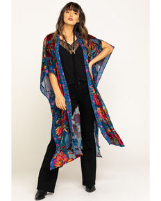 Aratta Women's Royal Blue Duster, Blue, hi-res