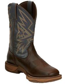 Tony Lama Men's Bartlett Coffee Western Work Boots - Soft Toe, Brown, hi-res