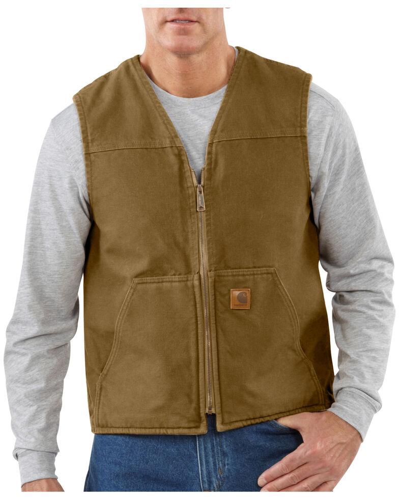 Carhartt Rugged Work Vest, Light Brown, hi-res