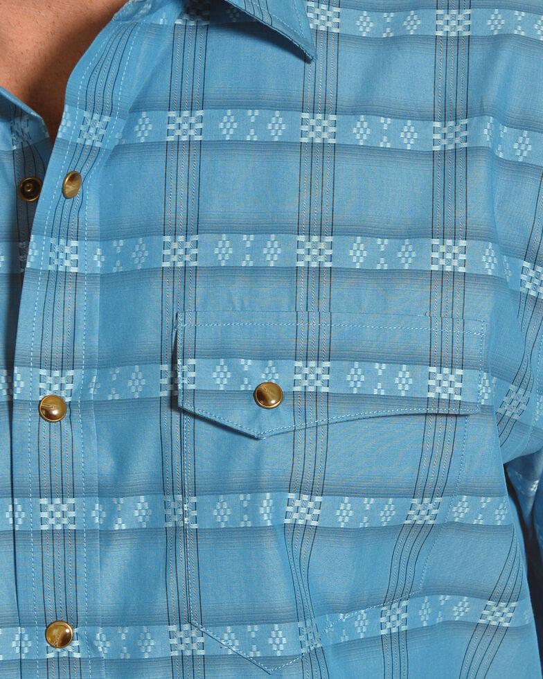 Pendleton Men's Cody Aqua Turquoise Short Sleeve Western Snap Shirt, Turquoise, hi-res