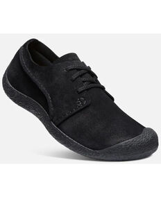Keen Men's Black Howser Suede Casual Slip-On Oxford Shoe , Black, hi-res
