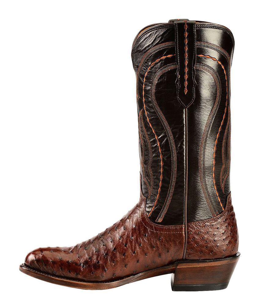 Lucchese Handmade 1883 Full Quill Ostrich Montana Cowboy Boots - Medium Toe, Sienna, hi-res