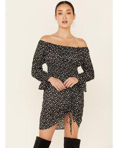 Rock & Roll Denim Women's Off The Shoulder Smocked Dress, Multi, hi-res