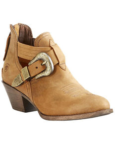 Ariat Women's Dulce Tawny Booties, Tan, hi-res