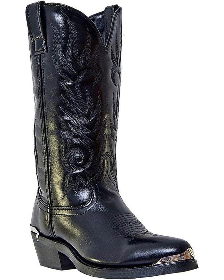 Laredo Men's McComb Cowboy Boots - Medium Toe, Black, hi-res