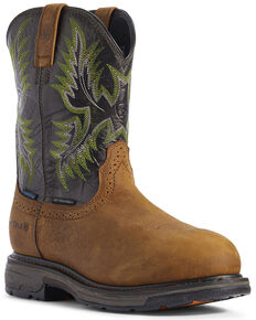 Ariat Men's Forest Workhog Western Work Boots - Composite Toe, Brown, hi-res