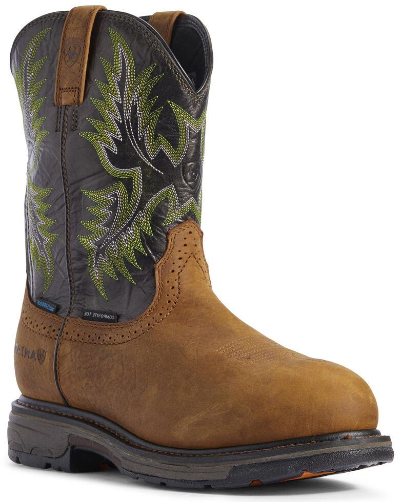 Ariat Men's Forest Workhog Western Work Boots - Composite Toe, Brown, hi-res