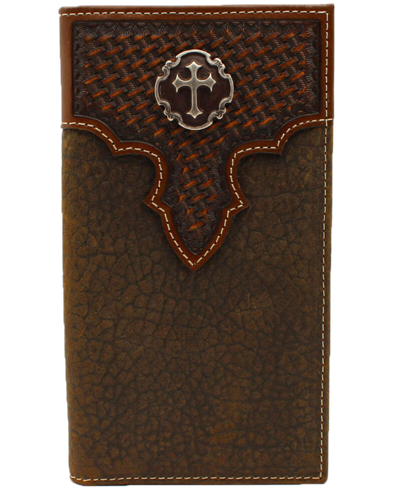 cfa2b9c9fb84e Cody James Men s Basket Weave Cross Concho Rodeo Wallet - Country ...