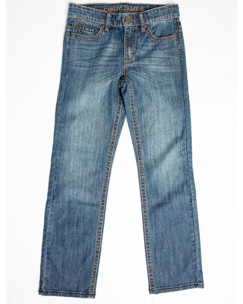 Cody James Boys' Bozeman Stretch Slim Bootcut Jeans - Big , Blue, hi-res