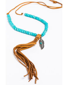Idyllwind Women's Turquoise Tassel Necklace, Turquoise, hi-res
