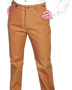 WahMaker by Scully Women's Old West Canvas Pants, Brown, hi-res