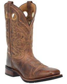 Laredo Men's Kane Western Boots - Wide Square Toe, Tan, hi-res