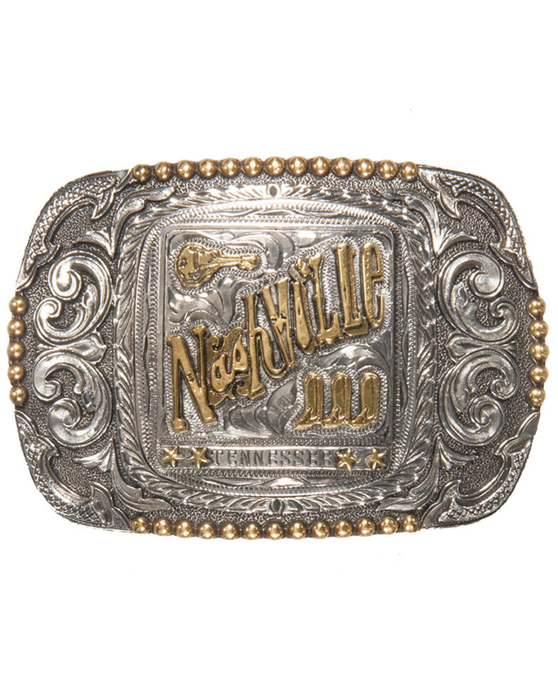 Cody James Men's Nashville Regional Western Belt Buckle, Silver, hi-res