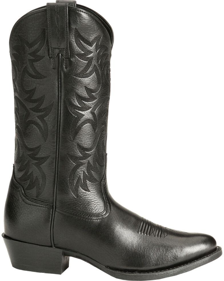 Ariat Heritage Deertan Cowboy Boots - Medium Toe, Black, hi-res