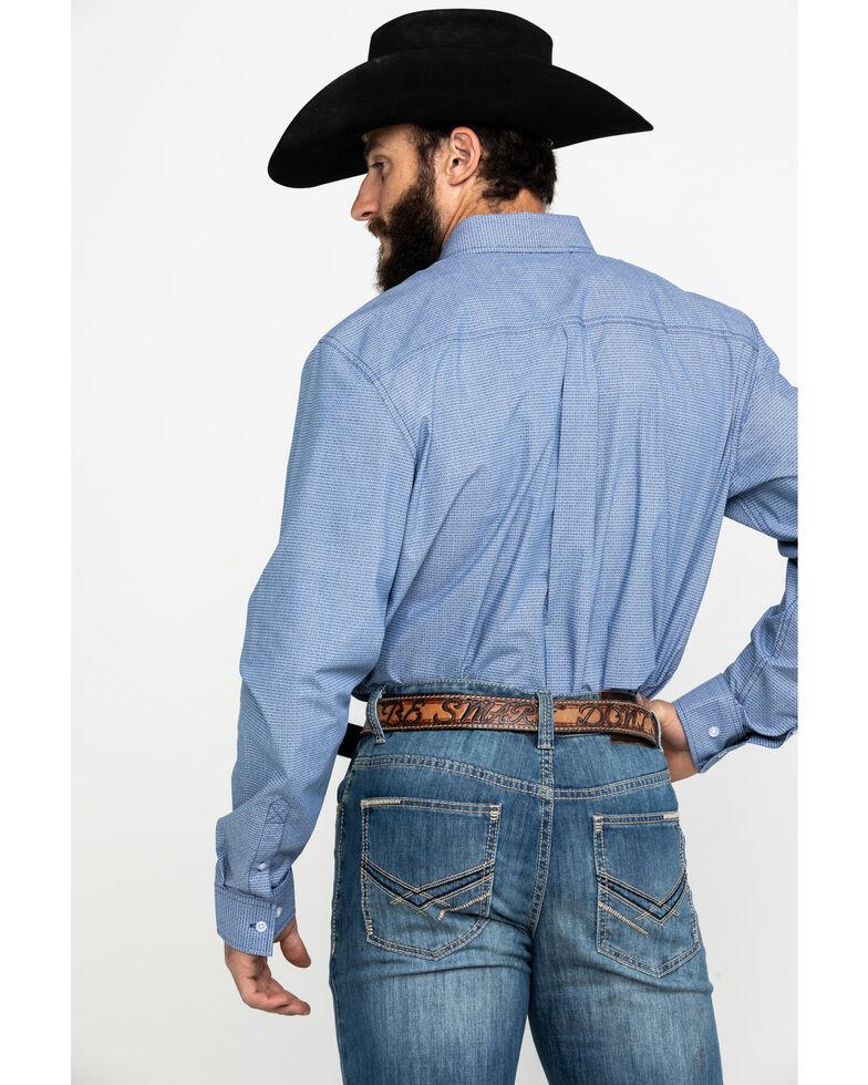 Cody James Core Men's Westin Geo Print Long Sleeve Western Shirt - Big , Blue, hi-res