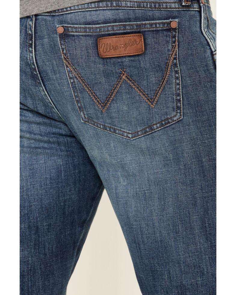 Wrangler Retro Men's Bokan Medium Wash Stretch Slim Bootcut Jeans , Blue, hi-res