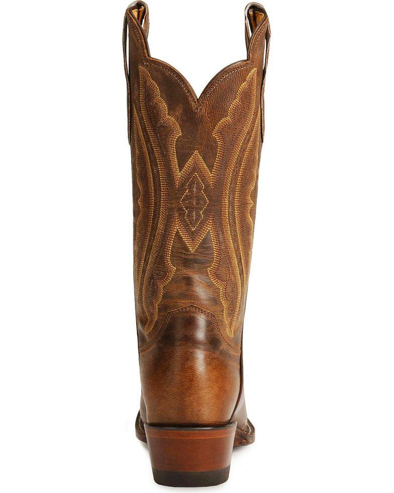 Justin Women's Rosebud Cowgirl Boots - Square Toe, Tan, hi-res
