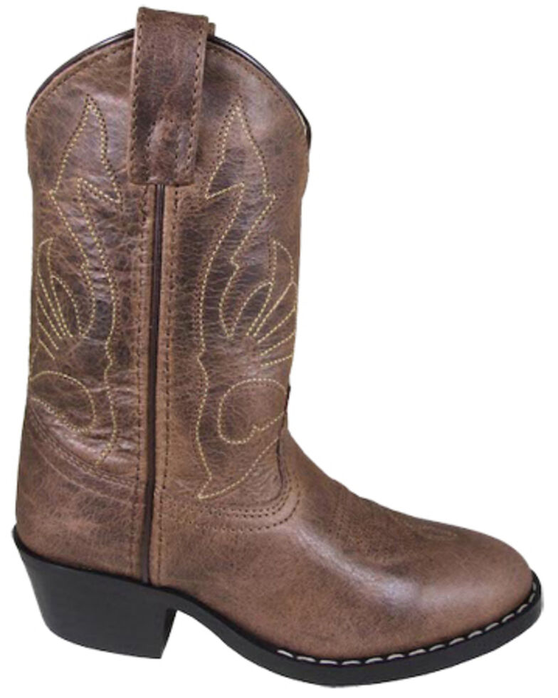 Smoky Mountain Boys' Nashville Western Boots - Square Toe, Brown, hi-res