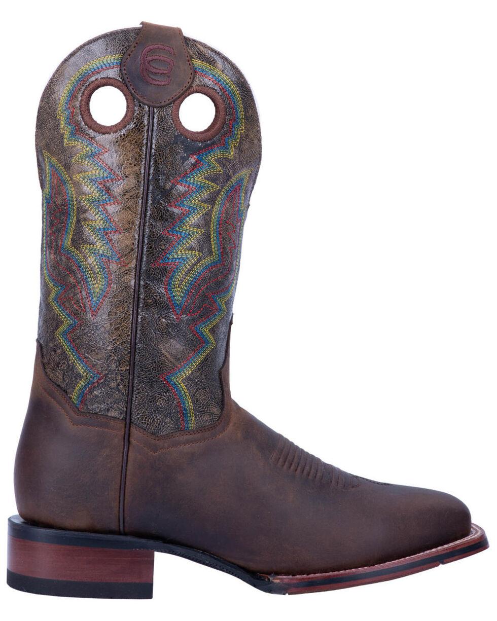 Dan Post Men's Chocolate Deuce Western Boots - Wide Square Toe, Chocolate, hi-res