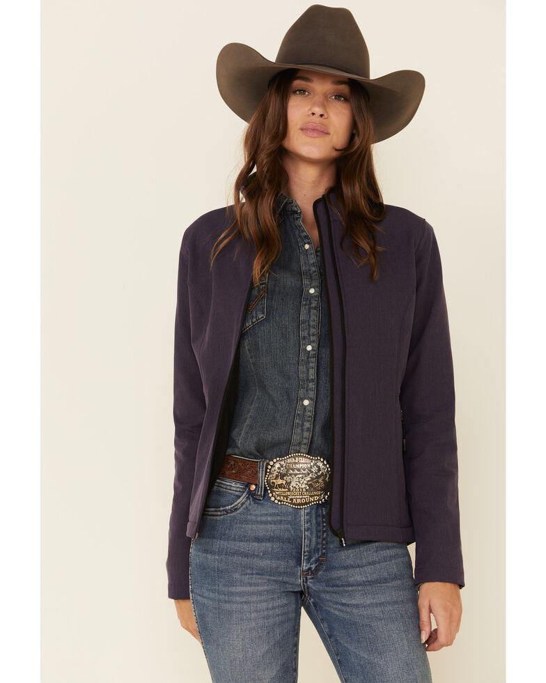 Roper Women's Purple Softshell Bonded Fleece Lined Jacket , Purple, hi-res