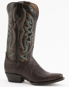 Ferrini Chocolate Lizard Cowgirl Boots - Snip Toe, Chocolate, hi-res