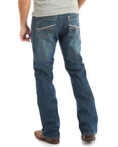 Rock 47 By Wrangler Men's Bridge Stretch Low Rise Slim Boot Jeans , Blue, hi-res