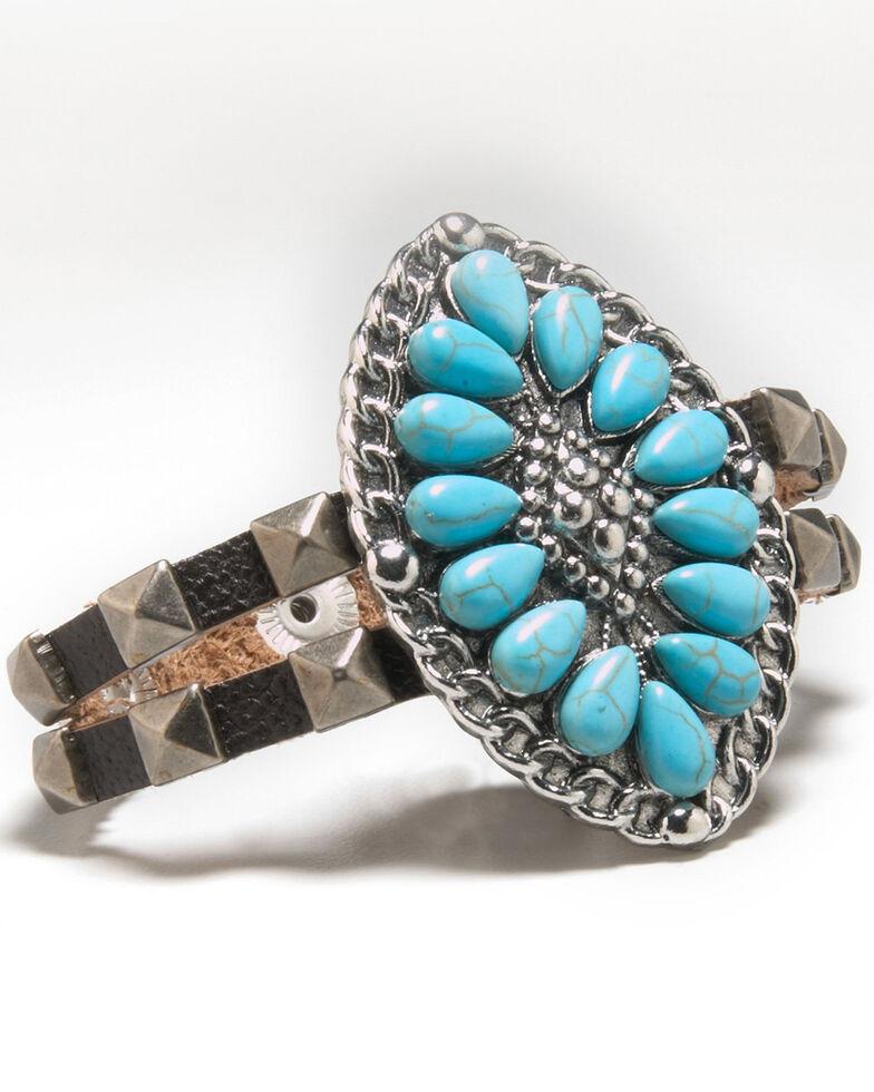 Cowgirl Confetti Women's Rock Of Ages Cuff Bracelet, Black, hi-res