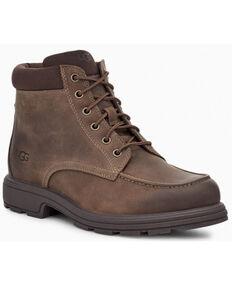 UGG Men's Brown Biltmore Lace-Up Casual Boots - Moc Toe, Brown, hi-res