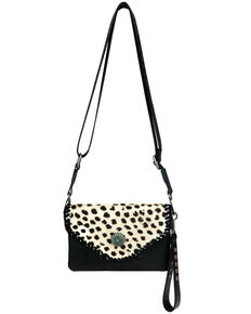Montana West Women's Snow Leopard Crossbody Bag, Black, hi-res
