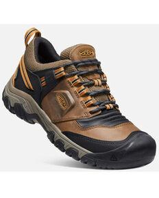 Keen Men's Golden Brown Bison Ridge Flex Waterproof Lace-Up Hiking Shoe , Brown, hi-res