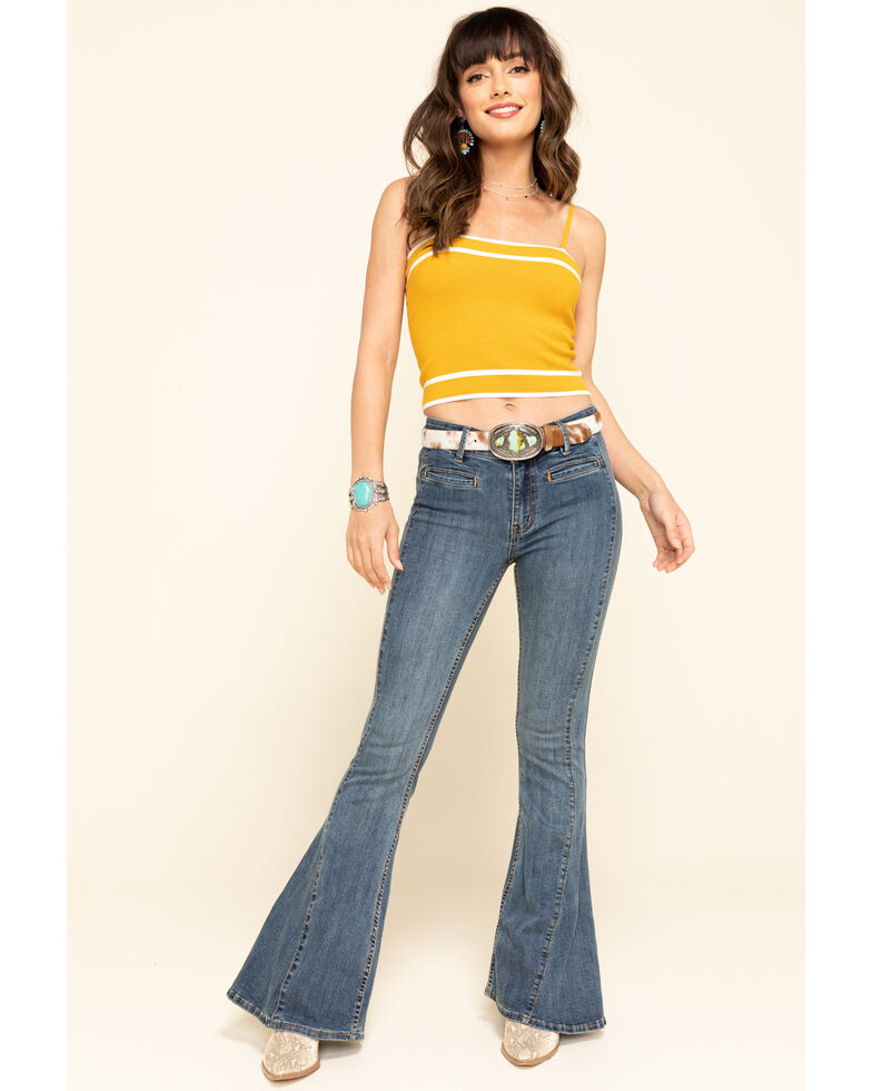 Free People Women's Dream Lover Flare Jeans, Blue, hi-res