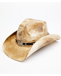 Shyanne Women's Natural Gori Straw Western Hat , Natural, hi-res