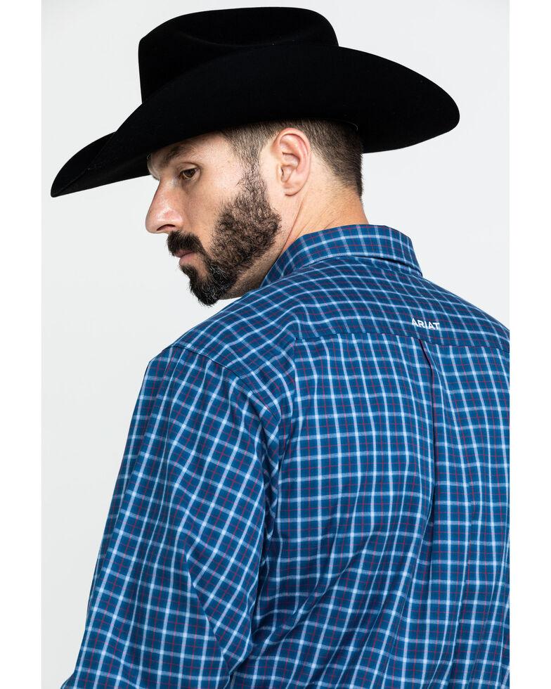 Ariat Men's Dalcin Plaid Long Sleeve Western Shirt - Big , Navy, hi-res