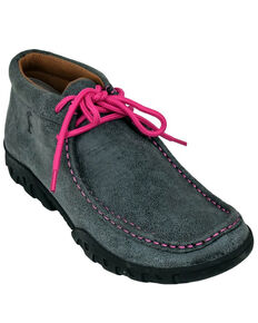 Ferrini Women's Rogue Smokey Black Shoes - Moc Toe, Black, hi-res