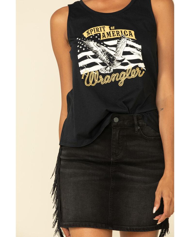 Wrangler Women's Spirit of America Graphic Tank Top, Black, hi-res