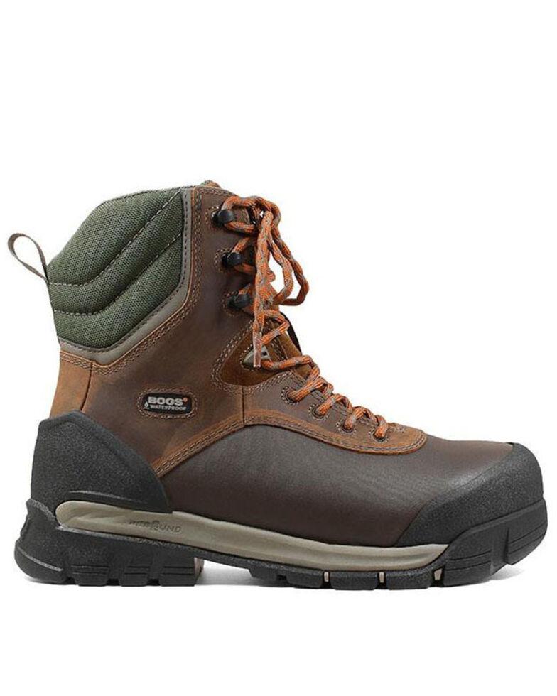 Bogs Men's Bedrock Lace-Up Work Boots - Composite Toe, Brown, hi-res