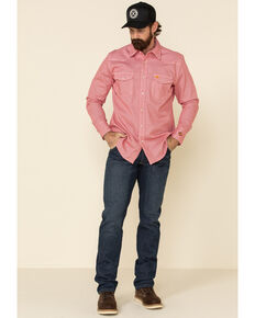 Wrangler Riggs Men's FR Mid Stone Regular Bootcut Work Jeans , Blue, hi-res