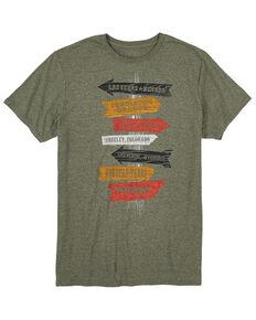 Wrangler Men's Sage Pepper Heather Rodeo Arrows Graphic Short Sleeve T-Shirt , Green, hi-res
