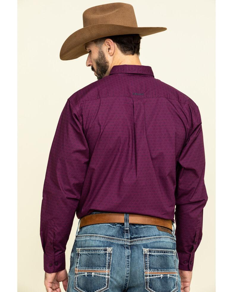 Ariat Men's Isherwood Triangle Geo Print Long Sleeve Western Shirt , Purple, hi-res