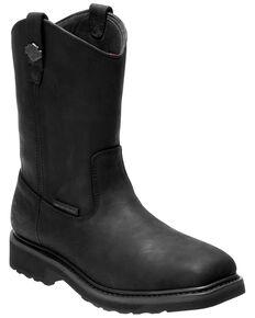 Harley Davidson Men's Altman Waterproof Western Work Boots - Soft Toe, Black, hi-res
