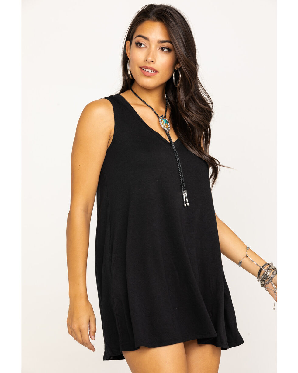 Red Label by Panhandle Women's Black Swing Dress, Black, hi-res