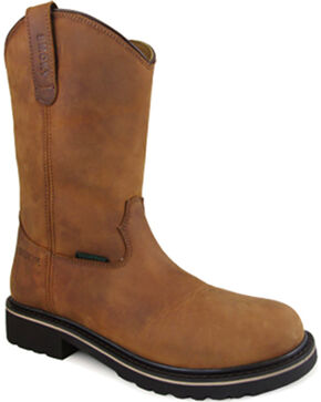 Smoky Mountain Men's Scottsdale Work Boots - Round Toe , Brown, hi-res