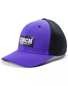 Cinch Men's Cinch American Denim Co. Flexfit Ball Cap, Purple, hi-res