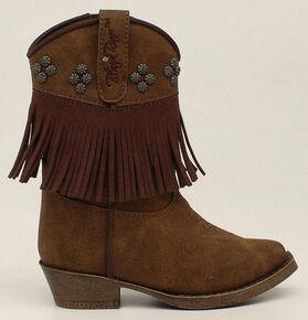 df8e065cabe0 Blazin Roxx Toddler Girls Zip Annabelle Fringe Boots - Snip Toe, Brown, hi-