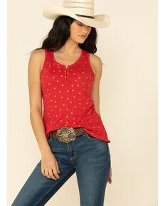 Ariat Women's Devoted Tank Top, Red, hi-res