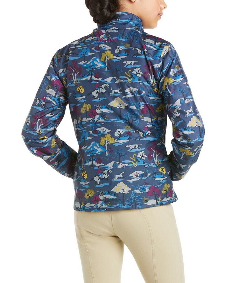 Ariat Girls' Youth Laurel Hunt Print Insulated Jacket , Blue, hi-res