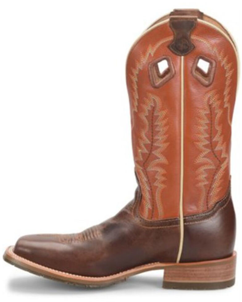Double H Men's Casino Western Boots - Wide Square Toe, Brown, hi-res